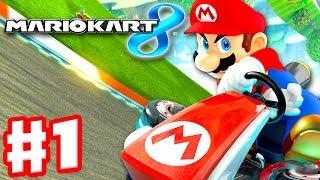 Mario Kart 8 Gameplay Part 1 50cc Mushroom Cup Nintendo Wii U Walkthrough