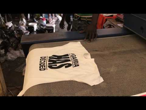 African Spice t-shirt printing factory, The Gambia
