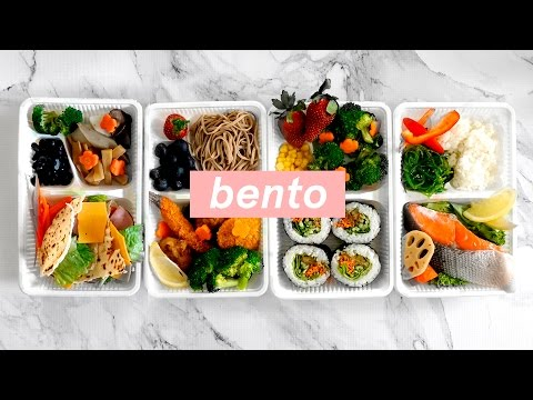4 Ways - Healthy Japanese Bento Box Lunch Ideas! Meal Prep for the New Year 🍤