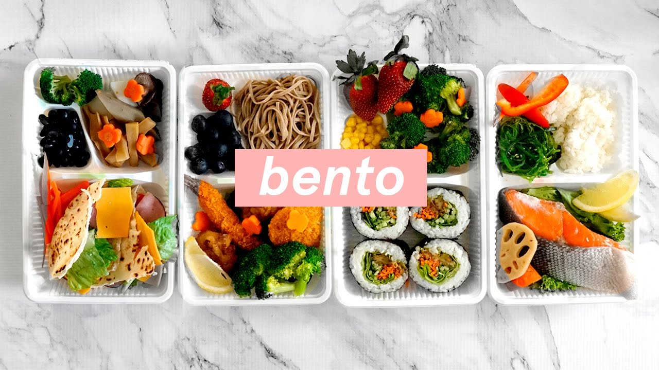 4 ways healthy japanese bento box lunch ideas meal prep for the new year youtube. Black Bedroom Furniture Sets. Home Design Ideas
