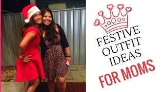 7 Holiday party 🎉 outfit ideas for moms/ Indian MOM In AUStralia