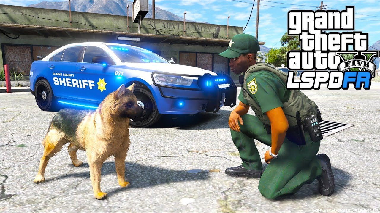 GTA 5 - LSPDFR Ep550 - K9 Sheriff Patrol with Ace!!