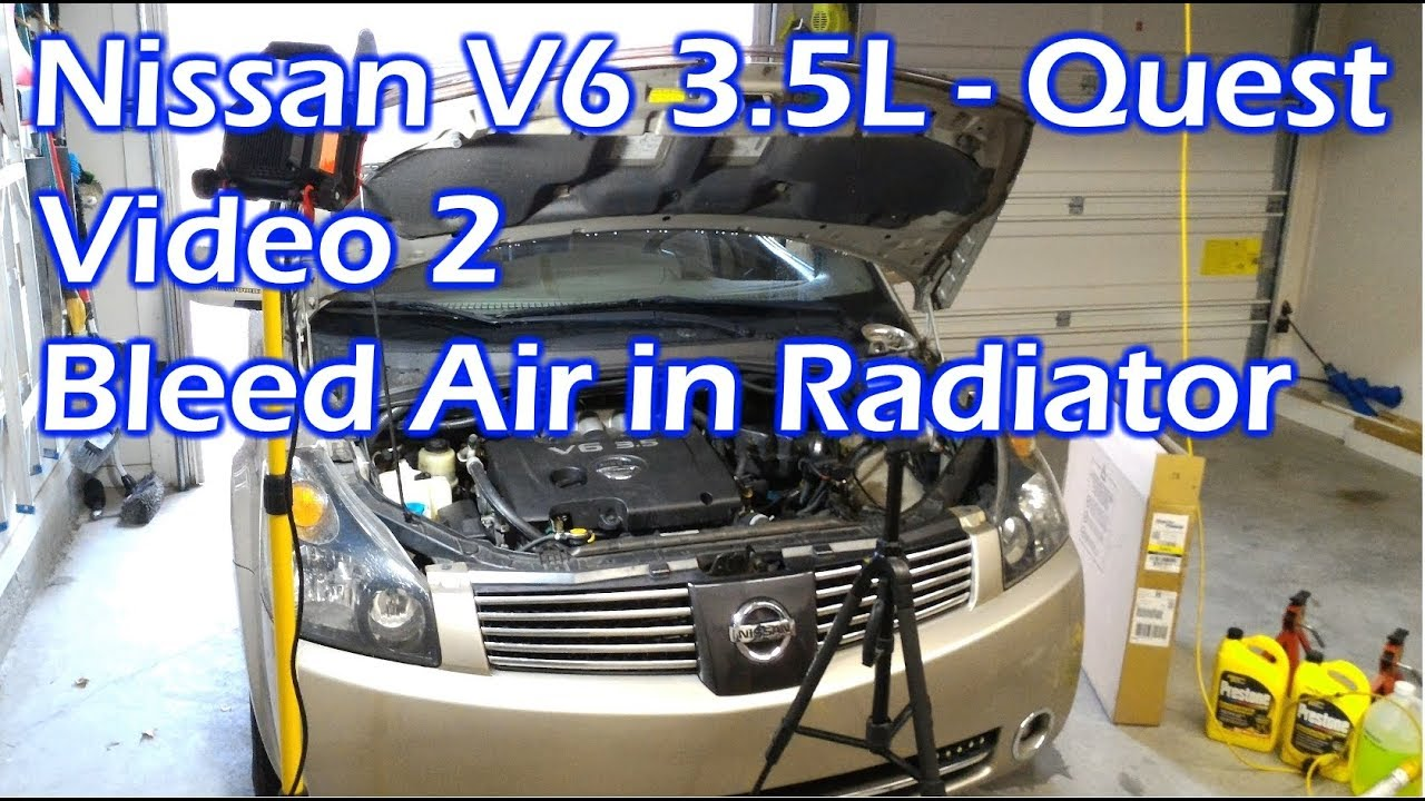 medium resolution of nissan v6 radiator bleed air video 2 2004 quest