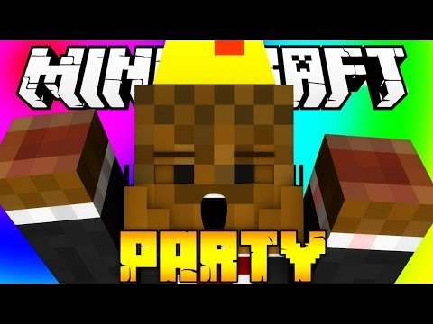 Minecraft ROCKET PIGS, HORSE RACES, CANNONS AND MORE! (Party)