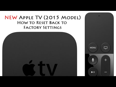 New Apple Tv 4th Gen How To Reset Back To Factory Settings H2techvideos
