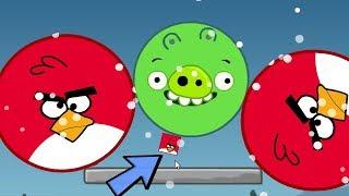 Angry Birds Kick Out Green Pigs - TRANSFORM SMALL BIRDS TO HELP HUGE BIRDS KICK PIGGIES!