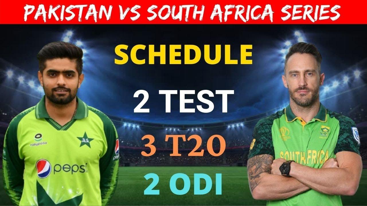 Pakistan Vs South Africa 2021 Series Schedule ...