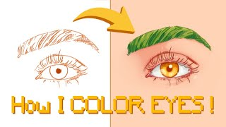 HOW I color EYES !