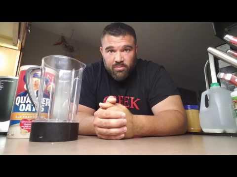 Greek Goliath on breakfast shake of champions.