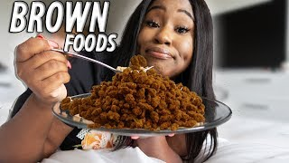 I ONLY ATE BROWN FOODS FOR 24 HOURS CHALLENGE!