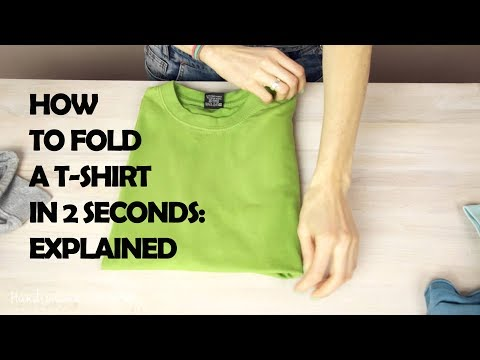 cf0b5c92 How To Fold A T-shirt In 2 Seconds: Explained - YouTube