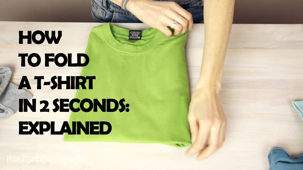 b762c3d2423 How To Fold A T-shirt In 2 Seconds  Explained - YouTube
