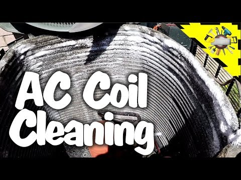 How to clean AC coil inside