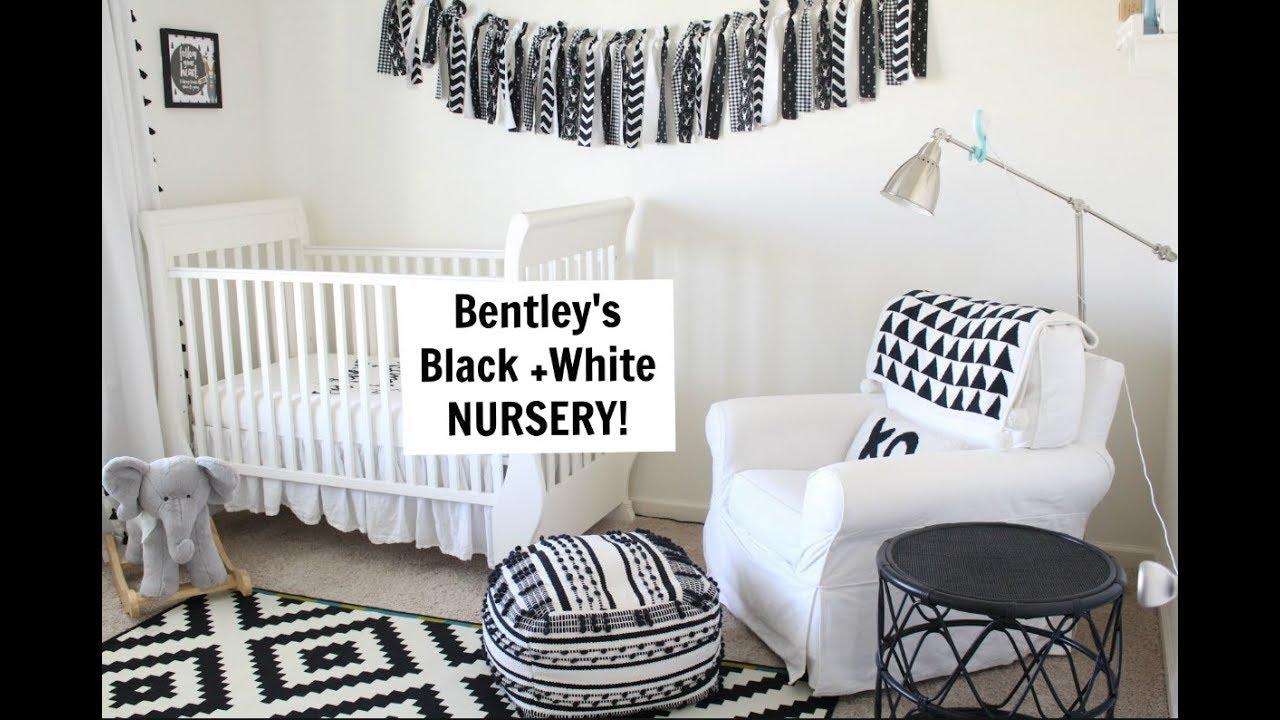 Gender Neutral Nursery Tour Black