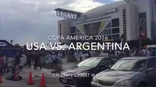 Copa America 2016 - (USA vs. Argentina) - Parking Lot Chant Wars