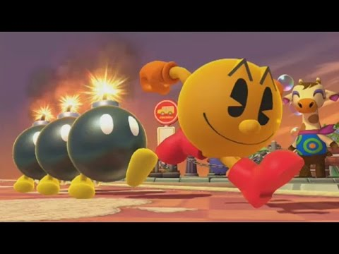 Super Smash Bros. (Wii U) - Score at least 300000 with one bomb on Stage 3 in Target Blast (PAC-MAN)