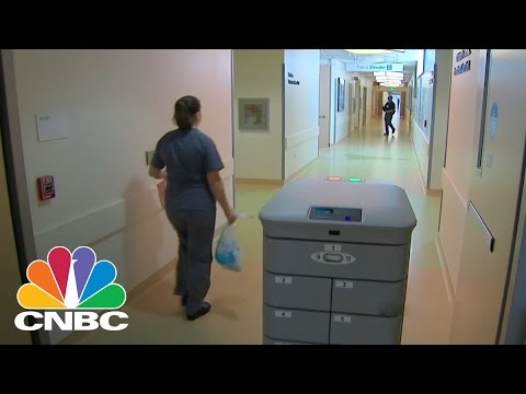 Robot Hospital Couriers At UCSF Medical Center | CNBC