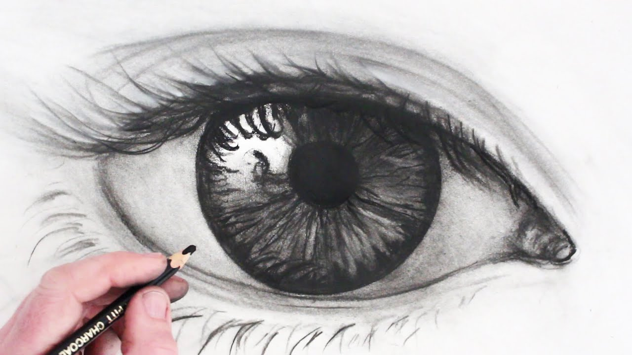 How to draw a realistic eye narrated sketch