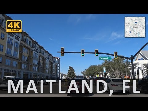 Driving from Winter Park to Maitland, Fl (4k)