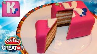 Play-doh Cute Cake for Miss Katy - Плей до торт для Кати (Канал Мисс Кэти)