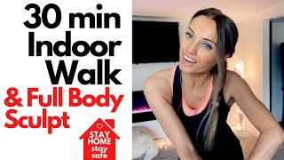 HOME WORKOUT   WALKING AT HOME & FULL BODY WORKOUT - STAY HOME TRAIN WITH ME ON MY FITNESS CHANNEL
