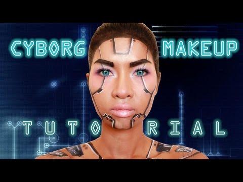 CYBORG SFX Makeup Tutorial ( DIY Robot Makeup)
