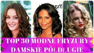 Top 30 modne fryzury damskie półdługie
