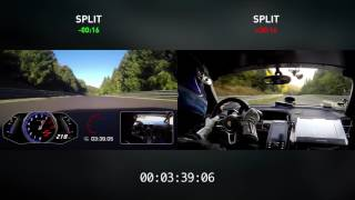 HURACÁN vs 918 SIDE BY SIDE | SPLIT TIMES | NÜRBURGRING RECORD