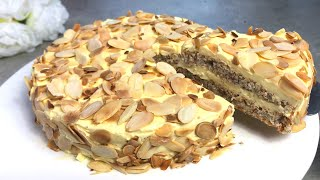 🇸🇪 Swedish Almond Cake like at IKEA - bring a Piece of Sweden into your Home! Recipe # 54