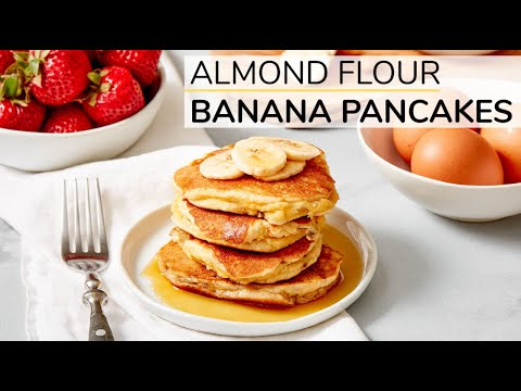 Almond Flour Pancakes With Yogurt and Nectarines