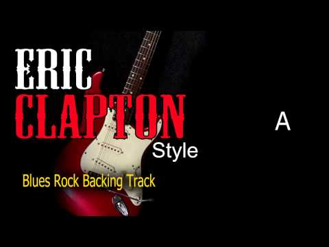 Blues Rock Eric Clapton Style #2 Guitar and Bass Backing Track 112 bpm