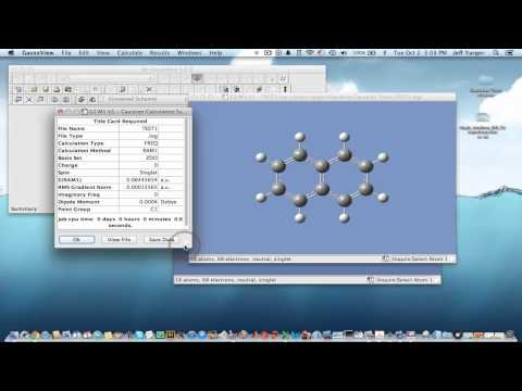 Example of Thermochemistry Calculation in Gaussian 09 - YouTube