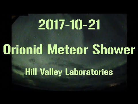 2017-10-21 Live streaming the Orionid meteor shower. And some Aurora Borealis.