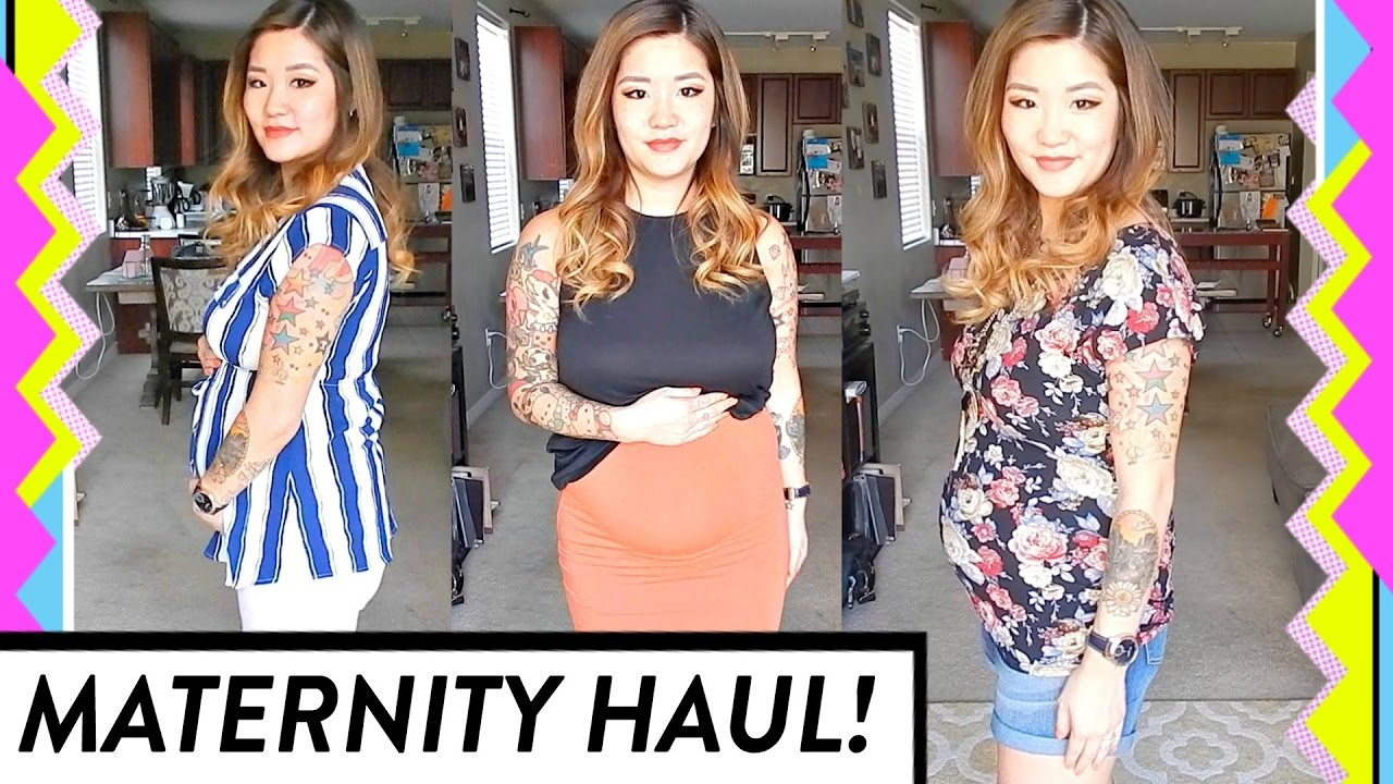 de961556165bc Maternity Clothing Haul + Try On | Spring/Summer Pregnancy | HelloHannahCho