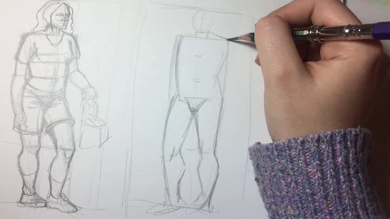En Kolay Anatomi çizimi çizime Yeni Başlayanlar Için Imgesel