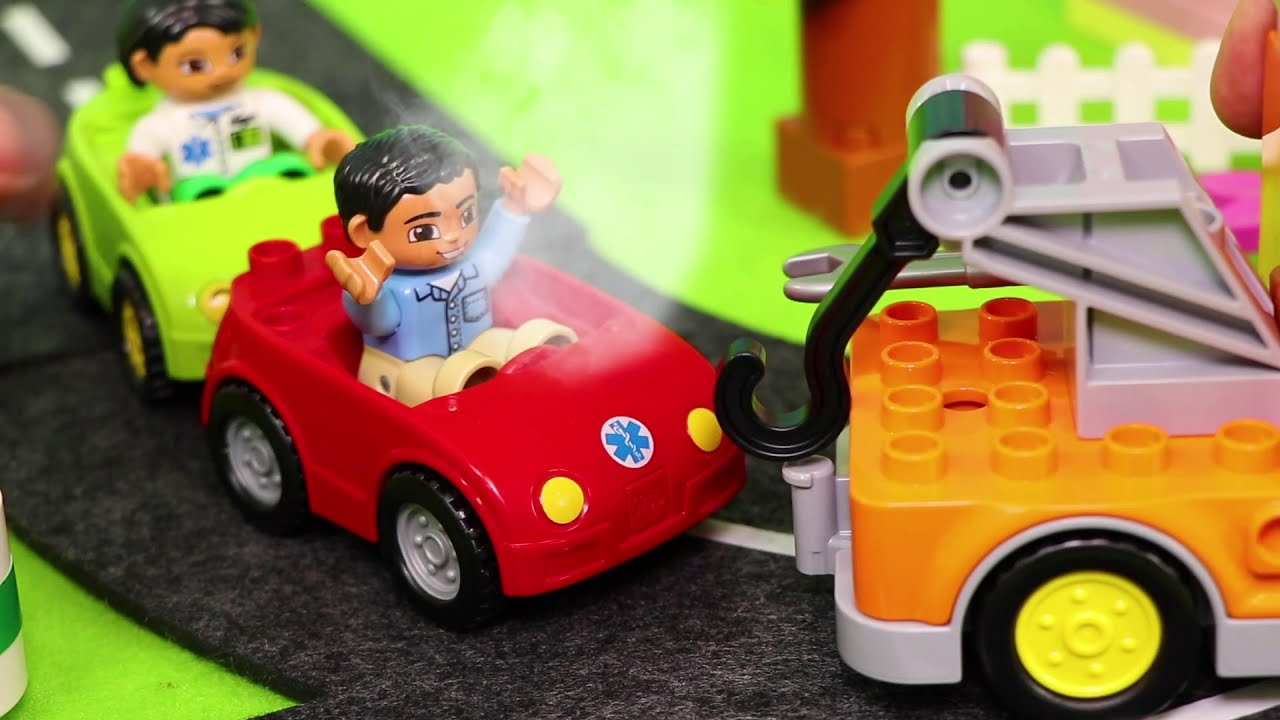 Excavator Fire Truck Police Cars Train Tractor Dump