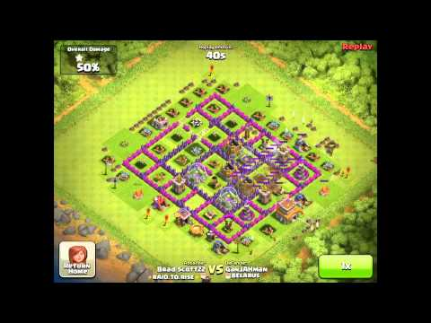 Clash of Clans Attacking with Tier 1 Troops