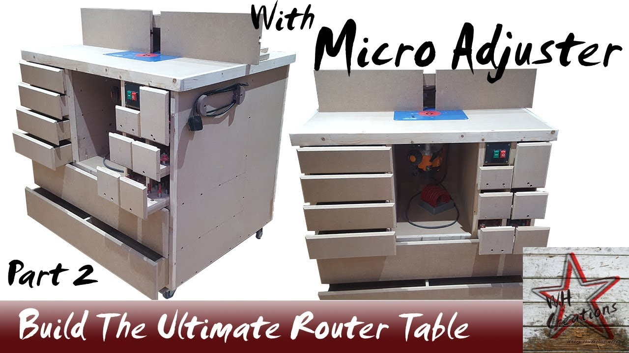 Ultimate wood router table build with micro adjustment fence part 2 ultimate wood router table build with micro adjustment fence part 2 greentooth