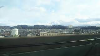 北海道・東北新幹線 はやぶさ18号の車窓⑤水沢江刺駅通過 2020.02.01