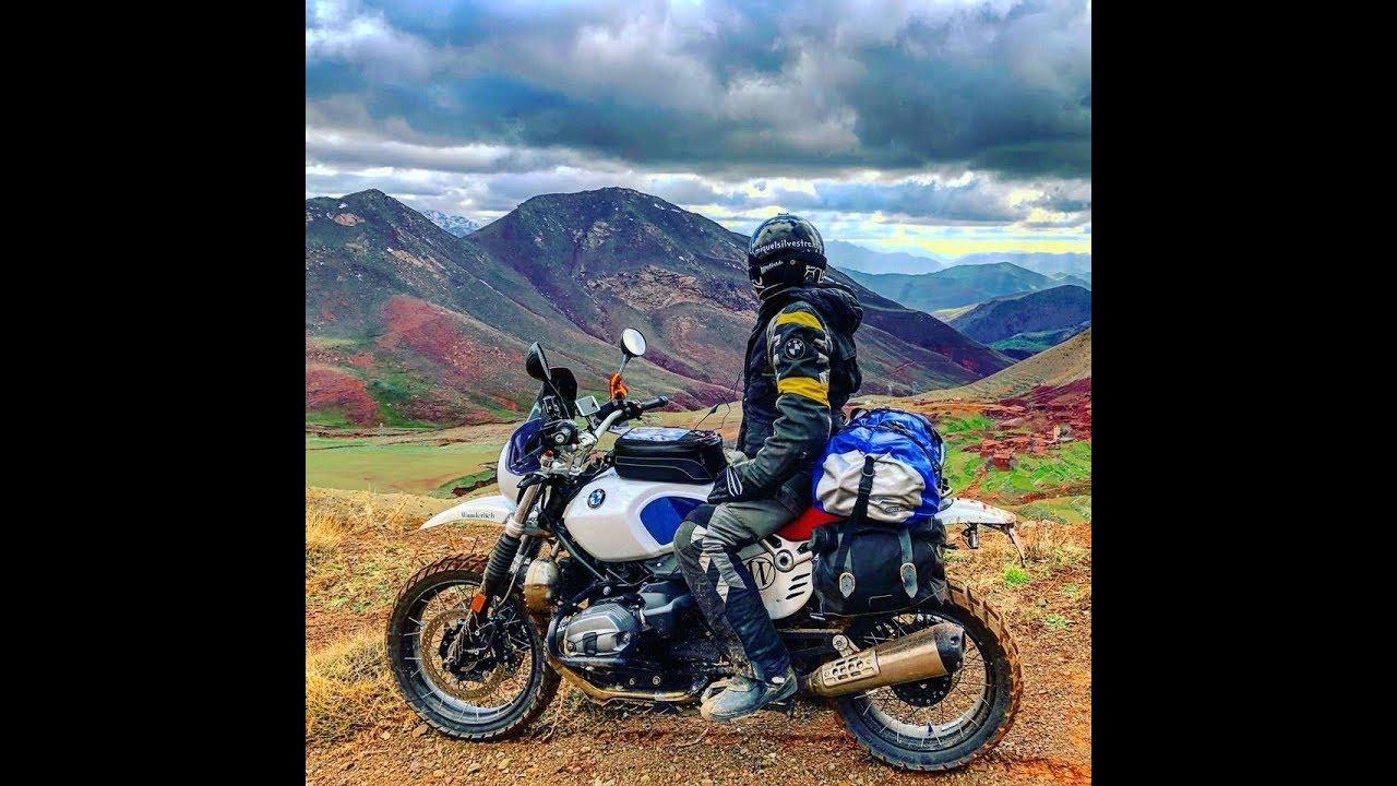 Bmw Road >> Atlas Marruecos en moto. Off road BMW Urban NineT GS - YouTube