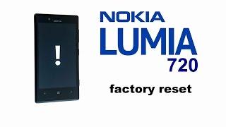 Nokia LUMIA 720 - Factory, Hard Reset, How to