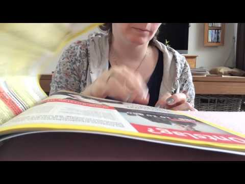 ASMR fast page turning through yellow pages / telephone book  with finger licking