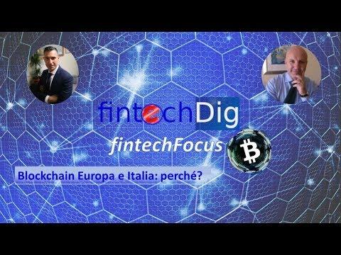 Blockchain Europa e Italia:perché?