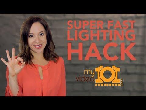 How To Look Good In Your Webcam Video [Lighting Hack]