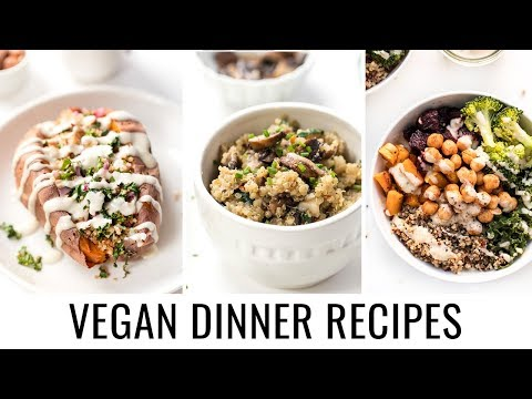 3 EASY VEGAN DINNER RECIPES | all made with quinoa ?