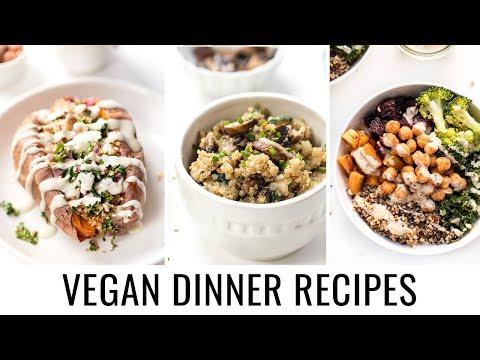 3 EASY VEGAN DINNER RECIPES | all made with quinoa 💯