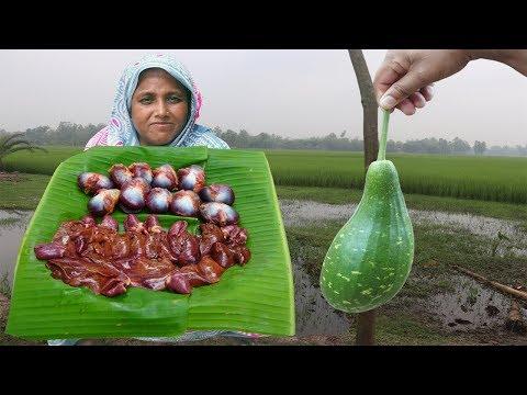 you've-never-seen-before!-lau-er-chamra-diye-haser-gila-kolija-vuna-recipe-rainy-day-lunch-routine