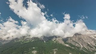 Clouds Over The Mountains Stock Video