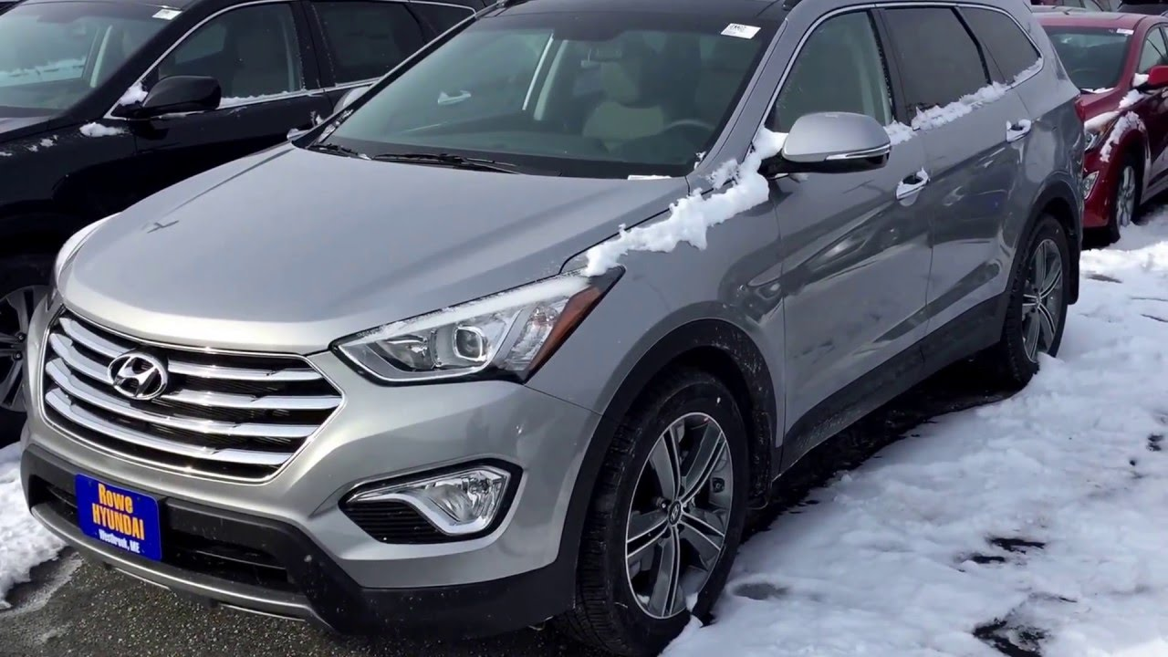 2016 hyundai santa fe se awd third row rowe hyundai. Black Bedroom Furniture Sets. Home Design Ideas