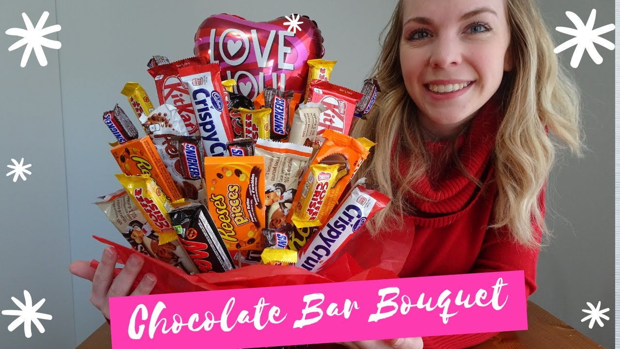 How To Make A Candy Bar Bouquet Easy Diy Gift Idea Youtube